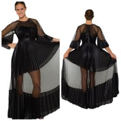 *NEW* BCBG Black RILEY Long Color-Blocked Pleat Dress 4 $448 RWY6Y870   #BCBGMAXAZRIA #Casual