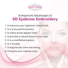 Get all these advantages by indulging in just one eyebrow service—6D Eyebrow Embroidery! Come and own your dream brows!  Contact us at:  🏠104 Jurong East St.13 #01-102 ☎ 65673568  🏠Marine Parade Central ☎ 98593982  🏠Orchard Gateway #B2-01 ☎ 67023062  Follow us at IG: https://www.instagram.com/thebeautyrecipe