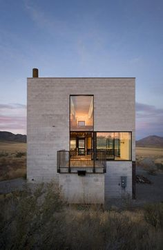 Remote home rises from the high desert floor