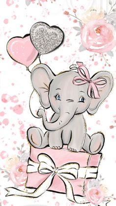 September 2 – Aimee Stoffel Garske – – Happy Painting by Clarissa Hagenmeyer – wallpaper Disney Wallpaper, Iphone Wallpaper, Animal Wallpaper, Pink Wallpaper, Baby Elephant Drawing, Baby Animal Drawings, Elephant Nursery Art, Birthday Cards, Happy Birthday