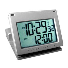 #@ Special Price Natico Clock Alarm Touch Panel  Silver (10-166)a