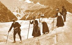 Alpine hiking in those Dresses and hats? Geez, were they wearing little tight…