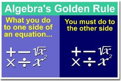 Math: Algebra's Golden Rule, Classroom Poster PosterEnvy http://www.amazon.com/dp/B004VI4VKM/ref=cm_sw_r_pi_dp_vQCYtb18KV52T0HZ