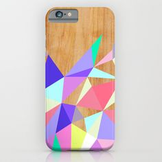 Wooden Geo Pastel iPhone & iPod Case by House Of Jennifer | Society6