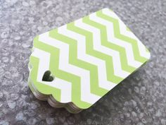 25 Green chevron tagschevron baby tagsbaby shower by karliboutique