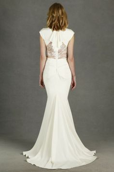 Nicole Miller Kimberly Size 4 Wedding Gown Deco-Inspired Ivory Silk and Lace Nicole Miller Wedding Dresses, Nicole Miller Bridal, Wedding Dresses 2014, Designer Wedding Dresses, Wedding Gowns, Wedding Bells, Wedding Hair, Lace Wedding, Wedding Dress Gallery