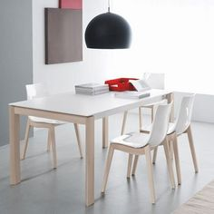 Connubia Calligaris 130 A Eminence Table Dining Area, Dining Chairs, Dining Table, Dining Room, Contemporary Furniture Stores, Grey Laminate, Led, Wood Table, New Homes