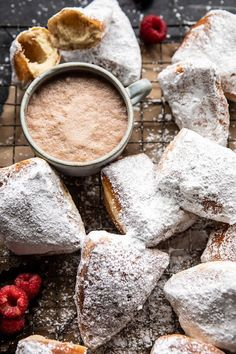 Lower Excess Fat Rooster Recipes That Basically Prime Easiest Cinnamon Buttermilk Beignets Brunch Recipes, Breakfast Recipes, Dessert Recipes, Donut Recipes, Dinner Recipes, Sweet Desserts, Fall Recipes, Bread Recipes, Beignets
