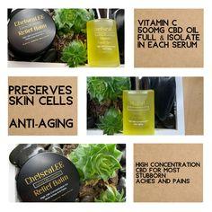 Product Display & Descriptions Vitamin C Serum, Vitamin E, Hemp Seeds, Seed Oil, Botanical Gardens, Anti Aging, The Balm, Product Display, Cosmetics