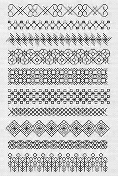 Image result for blackwork embroidery tudor border
