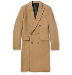 AMIDouble-Breasted Wool Overcoat