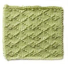 Free Knitting Pattern - Stitch Patterns: Small Diamond Brocade Stitch