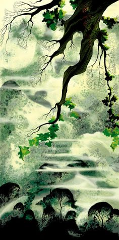 Eyvind Earle   I am discovering I love his paintings! dd