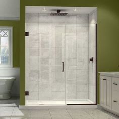 "DreamLine UniDoor Plus 34"" x 72"" Hinged Shower Door Trim Finish:"