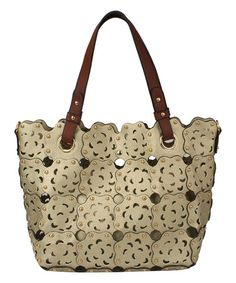 Another great find on #zulily! Taupe Rose Laser-Cut Tote #zulilyfinds