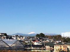 富士山がくっきり綺麗に見える季節が終わりに近づいてきたかな?!