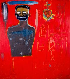Jean-Michel Basquiat (1960–1988), Untitled (Cadmium), 1984. oil, oil-stick and acrylic on canvas, 66 x 60 inches