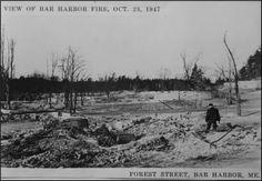 Bar Harbor Historical society, Bar Harbor, Maine- The historic fire of 1947