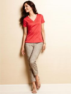 Talbots - Luxe Bamboo-Toggle Tee   Tops   Misses