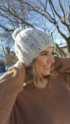 Ribbed Knit Beanie by MissFrecklesCrochet on Etsy