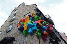 The Unusual Passages - Outdoor Art in Quebec City | Justin Plus Lauren