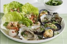 Shellfish salad with lime & chilli dressing