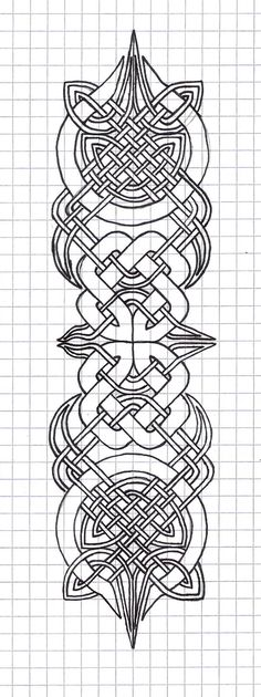 celtic designs by ~Crowly Hot Glue on Cardboard? Metal or stone?