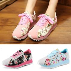 Cheap Women's Fashion Sneakers, Buy Directly from China Suppliers:               Fashion Flower Floral Print Breathable Women Sneaker Casual    Sports Shoes Lac