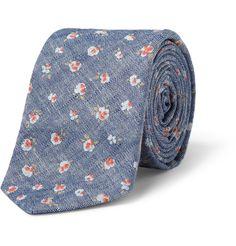 J.Crew Floral-Print Chambray Tie