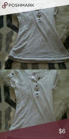 Girls white shirt (size 10/12) White shirt with copper buttons Justice Shirts & Tops Tees - Short Sleeve