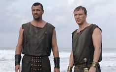 Lucius Vorenus and Titus Pullo. BFFs, won't let anyone come between them. They deal each other some hard truths, and hard punches; the manliest bromance.
