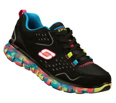 Sketchers Sneakers Women's Perfect Color Black Multi Color Running Shoes 11864