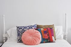 pillows  cool combination of colors