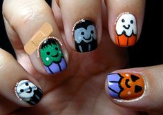 Slightly Nail Polished:   Halloween #nail #nails #nailart