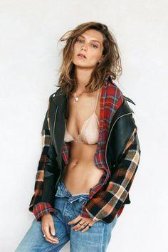 Daria Werbowy #flannel