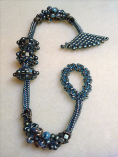 Seed bead woven bracelet. Interesting, wonder if it works well.