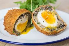 Mushroom Scotch eggs recipe, first saw on Mary Berry's Absolute Favourites Vegetarian Recipes, Healthy Recipes, Healthy Food, Homemade Scotch Eggs, Egg Recipes, Cooking Recipes, Bread Recipes, Recipies, Lasagne