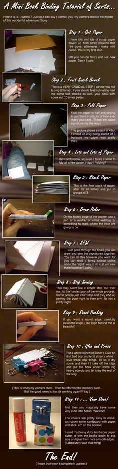 To anyone and everyone looking to make a neat project, here's the perfect one! Making miniature books is easy and simple and it leaves you with a neat functional book in the end. I hope you ha...