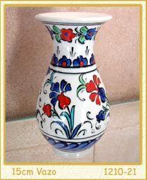 Çini Vazolar - Geleneksel Osmanlı Çinileri - Çini Vazo, Kütahya Çinileri, iznik çini vazo, Çini Kaseler, çini tabak