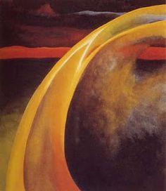 Georgia O'Keeffe  Orange and red streak (1919)