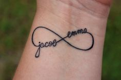 Personalized InfinityTattoo With Children's Names- if I ever got a tattoo this would be it.