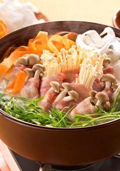 カラフル野菜のクリーミー鍋