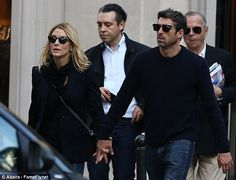 Back on? Actor Patrick Dempsey and wife Jillian Fink held hands while out in Paris on Sund...