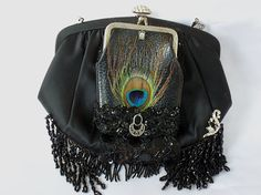 Hey, I found this really awesome Etsy listing at https://www.etsy.com/listing/73244767/leather-clutch-black-satin-evening-bag