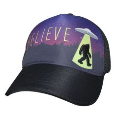 4483498f1aed7 Our Bigfoot Alien 5-Panel Trucker Hat is a perfect choice for those who want