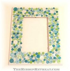 misc. buttons and/or complementary colored ones DIY Button Frames DIY Picture Frame DIY Home DIY Decor
