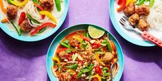 Thai Turkey Meatballs with Coconut Broth and Noodles recipe | Epicurious.com
