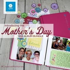 Mother's Day will be here sooner than you think! Show the mother you know in your life how much you love her with a unique gift that will bring tears to her eyes. This perfectly size 8x8 album bundle comes together in minutes. Go to my site to purchase www.creativememories.com/user/clickwriteshare    #creativememories #mothersday #scrapbooking #motherhood #mother #gift #photo