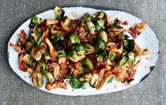 Grilled Brussels Sprouts with Chanterelles / 30 Delicious Things To Cook In November (via BuzzFeed)
