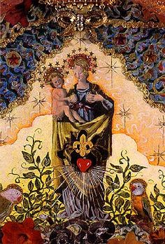 Madonna Series: Cyclica Duality Hank T. Lady Madonna, Madonna And Child, Blessed Mother Mary, Blessed Virgin Mary, Religious Icons, Religious Art, Art Illustrations, Illustration Art, Holy Holy